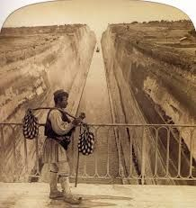 The history of the Corinth Canal by: iefimerida Corinth Canal, Old Greek, County Map, Greek Language, Panama Canal, Southern Italy, Athens Greece, Black Sea, Old Photos