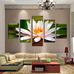 White Flower - 5 Piece Panel Art - BigWallPrints.com - 1