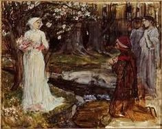 Dante and Beatrice John William Waterhouse. Oh the beauty of courtly love.