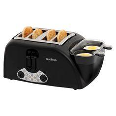 West Bend Egg & Muffin Toaster 4-Slice, Black (Baking Tools Crock Pot)