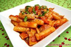 Spicy TteokBokki (ddukbokki) - This reminds me of my trip to Korea! yummmmm street food