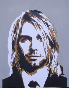 Nirvana ~ Kurt Cobain Rest in Peace Kurt Art Nirvana, Nirvana Lyrics, Kurt Cobain Art, Foto Poster, Stencil Painting, Spray Painting, Music Bands, Cool Bands, Illustration