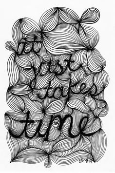 It Just Takes Time. Handlettered/Illustrated by whimsicalwonderer