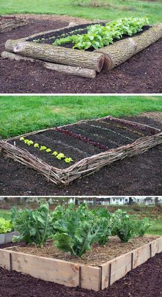 Organic Vegetable Gardening Lots of DIY raised garden bed ideas and tutorials so you can design and build your dream raised vegetable garden beds. Pros of raised garden bed Elevated Garden Beds, Raised Garden Bed Plans, Building A Raised Garden, Raised Beds, Cheap Raised Garden Beds, Easy Garden, Simple Garden Ideas, Cheap Garden Ideas, Raised Bed Garden Layout