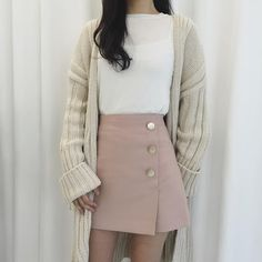 VISIT FOR MORE Korean fashion. Style skirt outfits like you would be comfortable wearing it skirt lenght wise. The post Korean fashion. Style skirt outfits like you would be comfortable wearing it ski appeared first on Fashion design. Cute Fashion, Look Fashion, Skirt Fashion, Fashion Outfits, Fashion Design, Fashion Ideas, Trendy Fashion, Fasion, Trendy Style