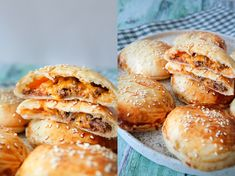 Easy Cheeseburger Pockets - Fast Food Friday - By One Kitchen Great Recipes, Healthy Recipes, Pizza Burgers, Good Food, Yummy Food, Beautiful Desserts, Tasty Dishes, Tapas, Food To Make