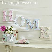 Floral Wooden Word Decoration-Home     This website is great!