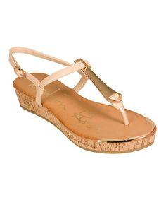 Look at this #zulilyfind! Nude Bali Platform Sandal #zulilyfinds