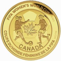 Canadian Gold Coin: 2015 $75 Pure Gold Coin FIFA Women's World Cup TM/MC: The Soccer Ball.