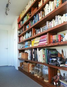 Love our books and bookshelf