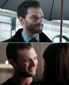 I like that I smile more in the next two ~ Jamie Dornan