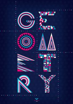 Geometry Typography design inspiration