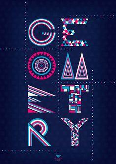 Geometry Typography design inspiration