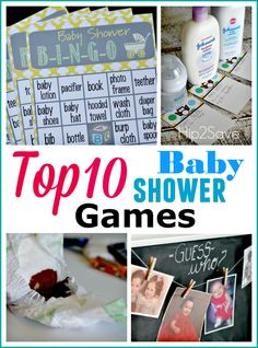 Top TEN Baby Shower Games
