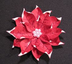 Tutorial on making poinsettia flowers