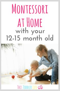 Montessori with your 12 month old to 15 month old is such an exciting time! Find out what you need to do to prepare your environment, what sensitive periods to watch out for and all sorts of activities and materials ideas to stock up on! Activities For One Year Olds, Toddler Learning Activities, Baby Learning, Montessori Activities, Infant Activities, Learning Games, 1year Old Activities, Montessori 12 Months, Montessori Room