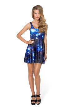 GALAXY BLUE SCOOP SKATER DRESS https://blackmilkclothing.com/collections/dresses/products/galaxy-blue-scoop-skater-dress
