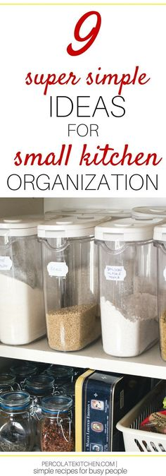 9 Simple Ways You Can Organize a Tiny Kitchen (and the Pantry, too!) Organization solutions for tiny kitchen spaces doesn't have to mean hiring a contractor! You can do it on a budget and DIY; here are 9 easy ideas. - Own Kitchen Pantry Small Kitchen Pantry, Free Standing Kitchen Pantry, Kitchen Organization Pantry, Big Kitchen, Kitchen Sink Interior, White Kitchen Sink, Home Improvement Contractors, Home Improvement Projects, After Life