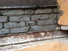 Forsterkning av eldre teglstein på fasade