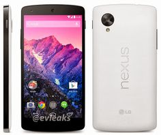 Two newly appeared Nexus 5 press photos show the white Nexus 5 and the notification LED, the Nexus 5 release is expected for today