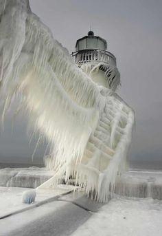 #lighthouse #snow #christmas