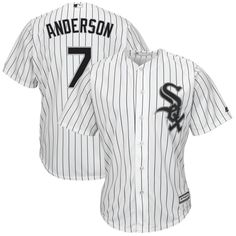Tim Anderson Chicago White Sox Majestic Home Cool Base Replica Player Jersey - White