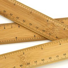 Bamboo Ruler - It has a bunch of conversions on the back side.
