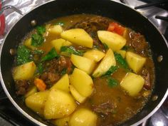 West Indian Lamb Curry with Potatoes and Spinach   The Levantess