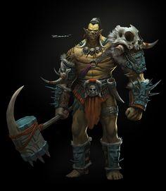 Tribal Orc by ZeenChin
