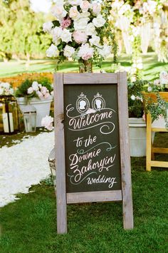 Artistic Chalkboard Welcome Sign
