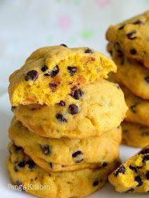 Peng's Kitchen: Pumpkin Chocolate Chip Cookies
