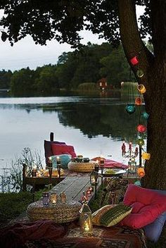 All packed and lake bound in the morning.ready for dinner at the lake house! I want to go to our lake house too! Outdoor Spaces, Outdoor Living, Outdoor Decor, Outdoor Seating, Gazebos, Haus Am See, Deco Boheme, Lake Life, Interior Exterior