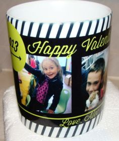 This cute mug my daughter customized for her daddy for Valentine's, Mug is ONLY $1