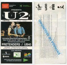 1987, Madrid, Bernabeu, U-2, y antes Pretenders, y antes UB-40 y antes, aunque no viene en la entrada, Big Audio Dynamite