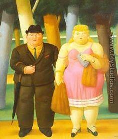 A Couple 1999 - Fernando Botero
