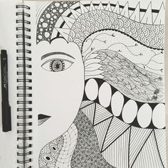 Finished #zendoodle zentangle zenspiration doodle book
