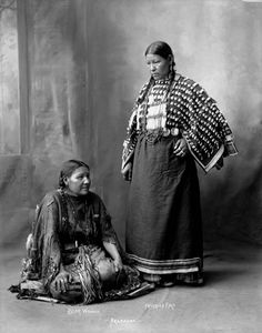 Arapaho woman Bear Woman and Freckled Face Woman 1898