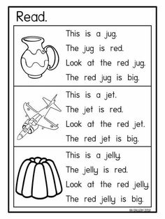 Learning English For Kids, English Worksheets For Kids, English Lessons For Kids, Phonics Reading, Teaching Phonics, Kindergarten Reading, Jolly Phonics, Kindergarten Activities, Reading Comprehension Worksheets