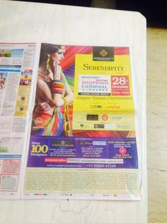 Serendipity Take6 Newspaper Full Page Ad