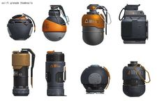 Weapon Design  Concept Art Grenade / Granada Diseño de Armas