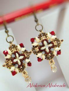 superduo beaded earrings