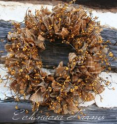 MUSTARD RAG WREATH
