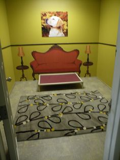 Luxury dog boarding suite inspiration, this is something that I want to do so bad.