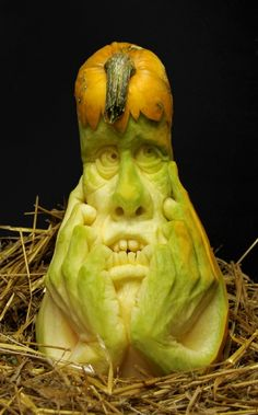 ❀⊱╮Watermelon Carving / Food Art / Fruit Art / food carving / Pumpkins  Squash carved by Ray Villafane