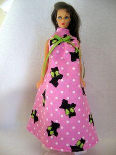 Pink Flannel Scottie Dogs Barbie Doll Nightgown by GrandmaLindasHouse 60c07dc00