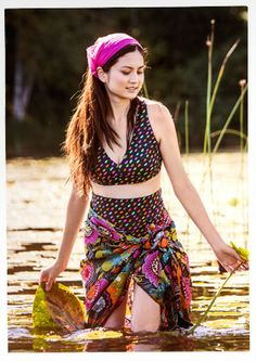 """Cascade"" nylon/spandex bikini top – Bad i kvällssolen – GUDRUN SJÖDÉN – Webshop, mail order and boutiques | Colorful clothes and home texti..."