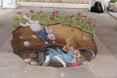 #Wonderland Chalk Art