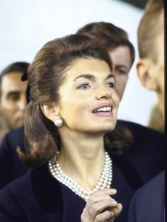 The recently widowed Jacqueline Kennedy, in attendance at the United Nations, listens to Pope Paul VI's address to the General-Assembly, New York City, New York, United States, 1965, photographer unknown.