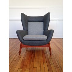 Vintage Midcentury Rare Parker Knoll Merrywood Wing Back Armchair Fully Reupholstered