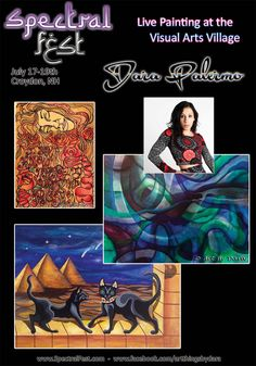 Dara Palermo, live painter from Greenfield, MA will be joining us at the Visual Arts Village of Spectral Fest, July 17-19th, 2015.   Meet her there or check out more of her work at www.SpectralFest.com,  www.facebook.com/SpectralSpiritFest or www.facebook.com/artthingsbydara #spectralfest, #spectralexperience